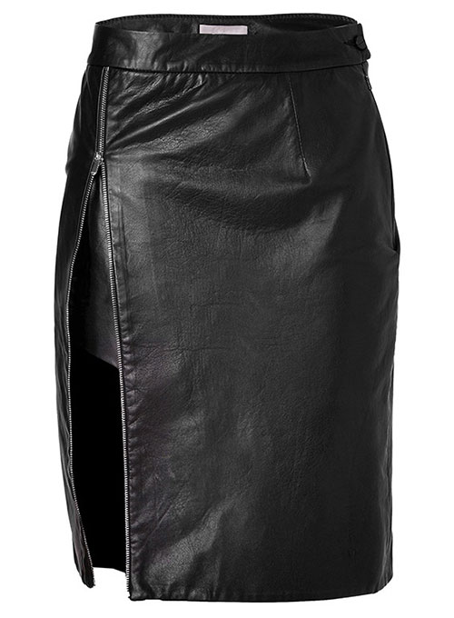 Scalloped Leather Skirt - # 476