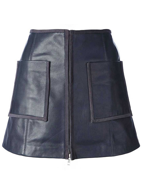 Smoking Piped Leather Skirt - # 425