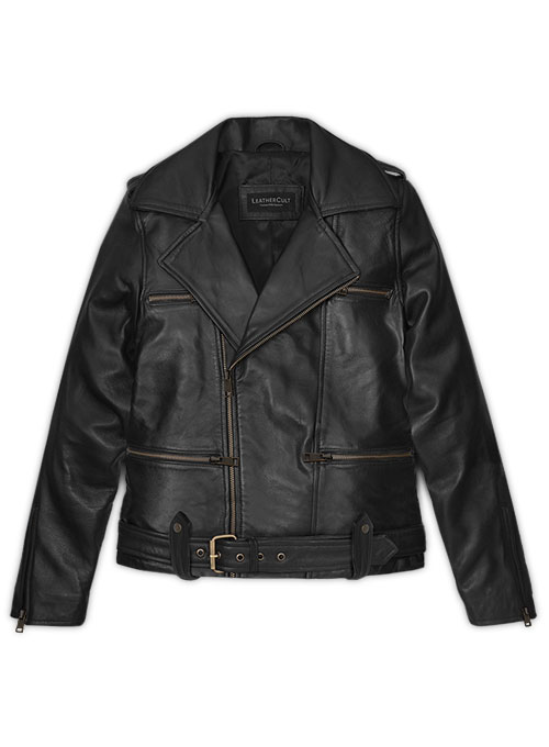Thick Black Brie Larson Captain Marvel Leather Jacket - Click Image to Close