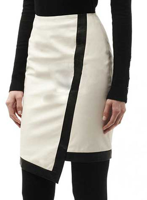 Two Toned Leather Skirt - # 149