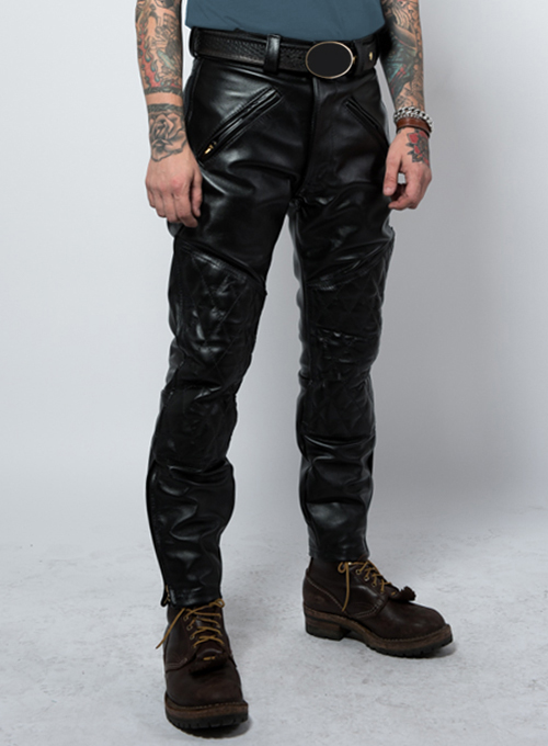 Vintage Sports Rider Leather Pants