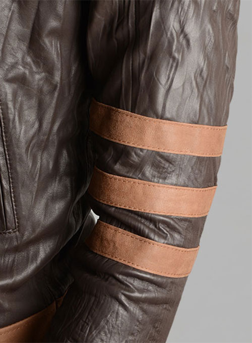 Wrinkled Brown X-Men Origins Wolverine Leather Jacket